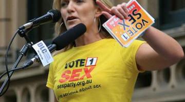 Neįtikėtini Australijos sekso partijos siekiai
